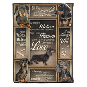 Pemola - Dachshund Believe Dog Fleece Blanket