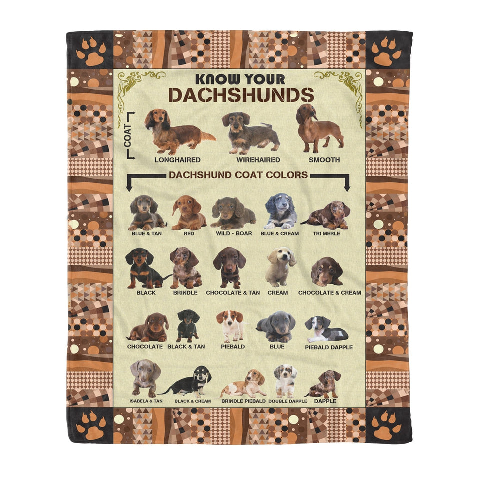 Pemola - Dachshund Dog, Dachshund Knowledge, Fleece Blanket