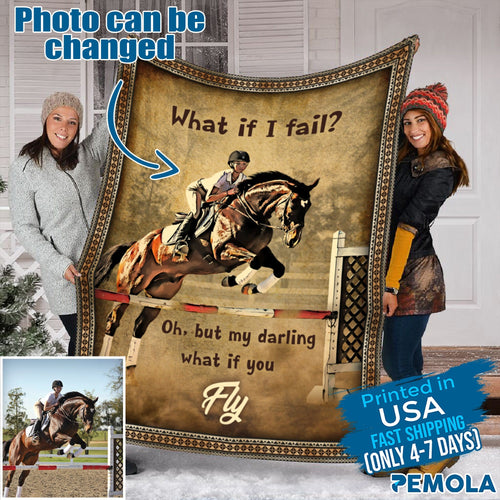 Pemola - Horse Riding Fleece Blanket, Horse Quotes blanket for horse lover.