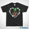 Pemola, Dachshund Shirt, St. Patrick's Day Shirts, Womens St patricks Day Shirts, Dachshund Gifts, Lucky Charm Shirt