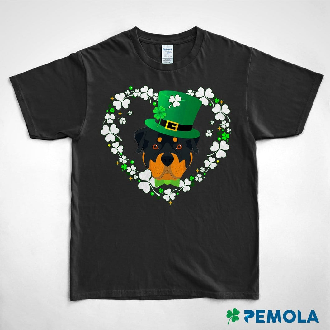 Pemola, Rottweiler Shirt, Dog Shirts, St. Patrick's Day Shirts, Womens St patricks Day Shirts, Graphic Tees For Women