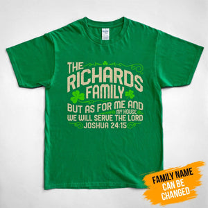 Pemola, Joshua 24:15, custom t shirts, st patricks day graphic tee, bible verse t shirts, family shirts, st patricks shirts