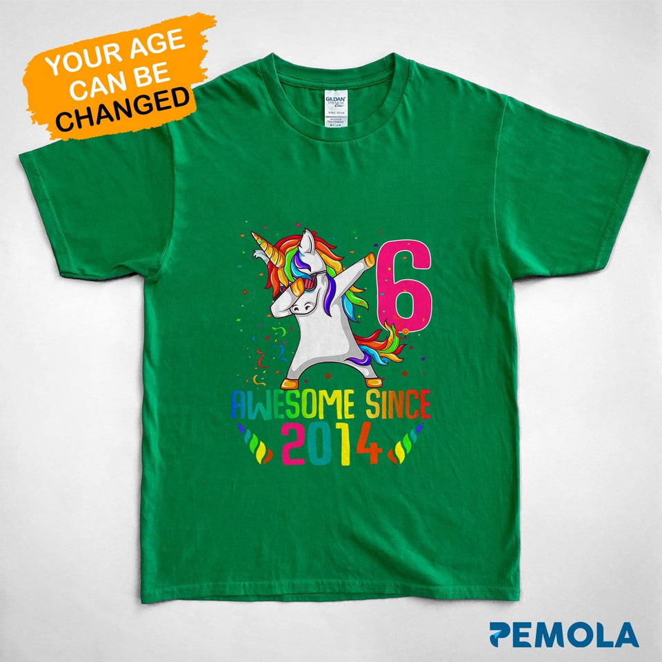 Pemola, personalized birthday gifts, kid unicorn birthday shirt, unicorn t shirt, shirts for boys, shirts for girls