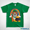 Pemola, English bulldog shirt, st patrick's day shirts, womens st patricks day shirts, st patricks day graphic tee