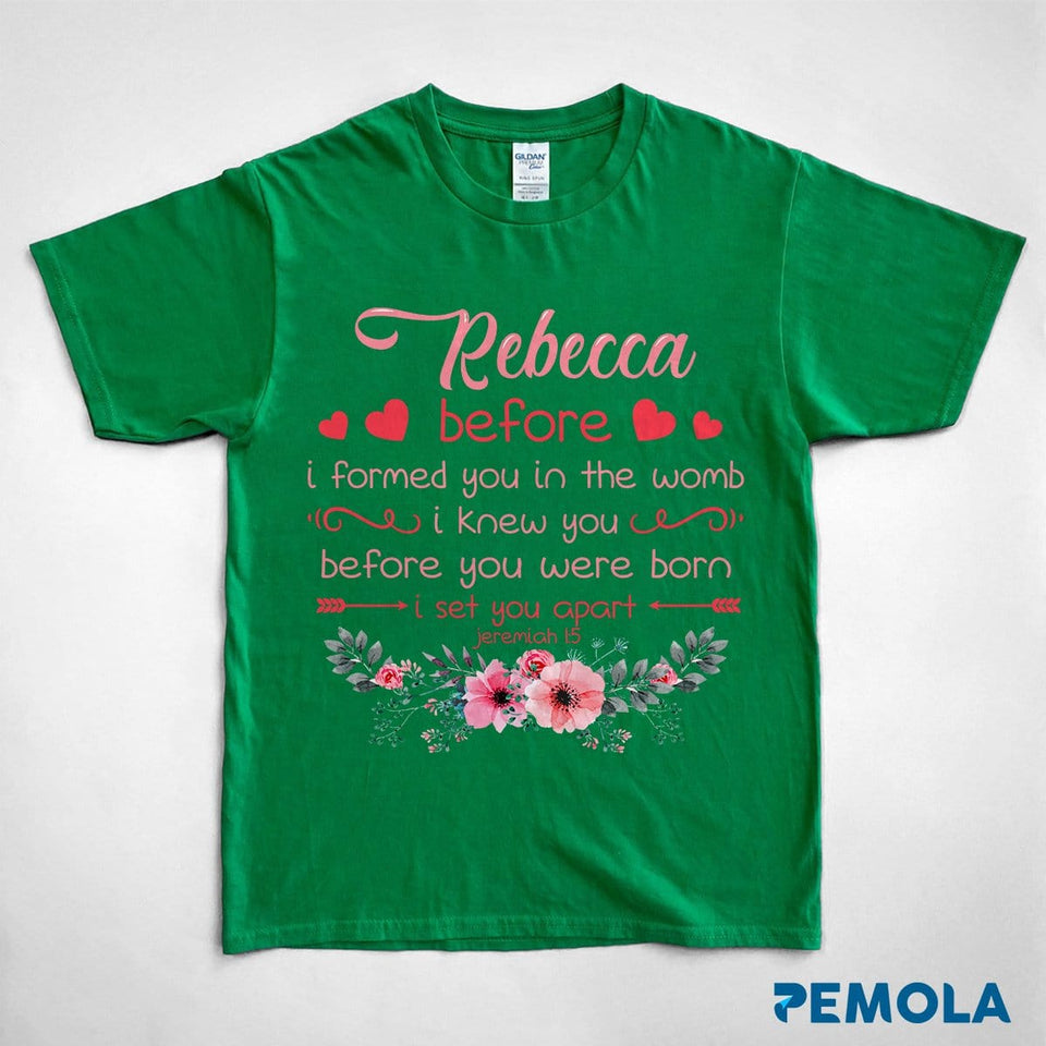 Pemola, Jeremiah 1:5, kids shirts, personalized gifts, bible verses t shirts, custom t shirts, christian t shirts