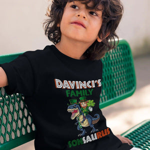 Pemola, boys dinosaur shirt, tyrannosaurus, matching family shirts, cool graphic tees, dinosaur, st patrick's day
