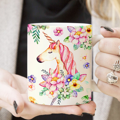 Pemola, Unicorn Mugs, Unicorn Coffee Mugs, Unicorn Lover Gifts, Cute Unicorn Mug, Gift for Her, 11oz White Mug