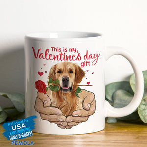 Pemola - Golden Retriever Dog Valentines Day Mugs, Funny Mug for Valentines Day