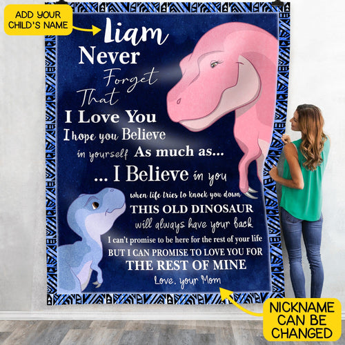Pemola, personalized blankets, dinosaurs for kids, dinosaur bedroom decor, gifts for kids, custom fleece blankets