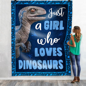 Pemola, dinosaur blanket, gifts for daughter, velociraptor, gifts for girls, dinosaur gifts, fleece blankets