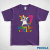 Pemola, Unicorn t shirt, unique Unicorn gifts, gifts for 7 year old boys, Unicorn birthday gift, birthday t shirt
