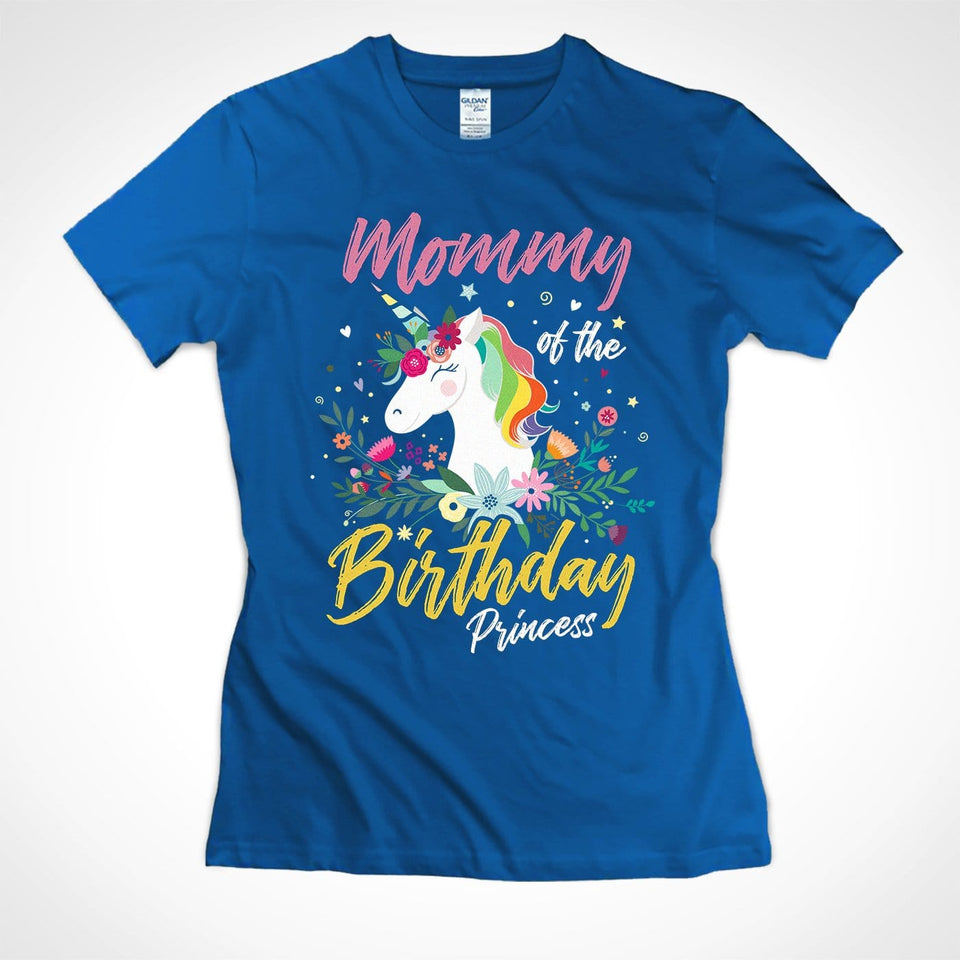 Pemola, Mommy Of The Birthday Princess Shirt, Cute Unicorn Shirt, Funny Unicorn, Family Matching Shirts, Unicorn Mom Shirt