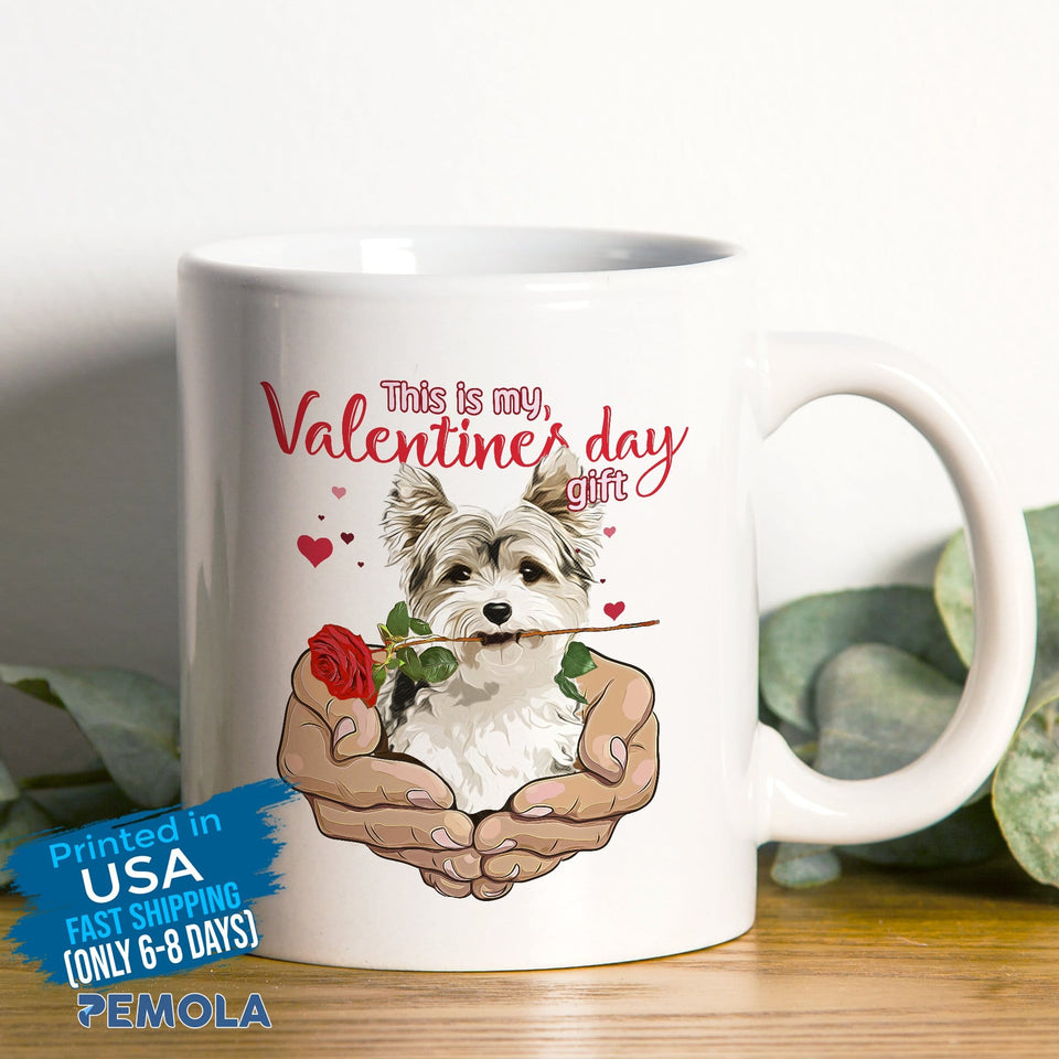 Pemola - Yorkshire Terrier Mugs, Valentines Day Mug, Funny Mug for Valentines Day
