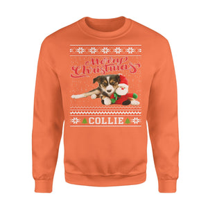Pemola, Collie Dog Christmas Ugly Sweatshirts, Sweatshirt