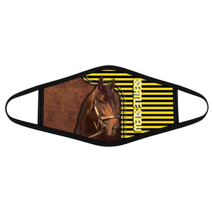 Pemola Seatle slew Cloth Face Masks, Horse Racing Cloth Face Covers, Horse Face Coverings