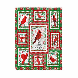 Pemola, Cardinal Saying Quote Christmas Fleece Blanket, gift ideas for women, mothers day gifts, red bird, cardinal bird