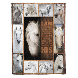 Pemola - Horse quotes Fleece Blankets, Horse girls blanket, horse art blanket for your family.