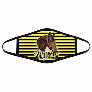 Pemola Seattle Slew Cloth Face Masks, Horse Racing Cloth Face Covers, Horse Face Coverings
