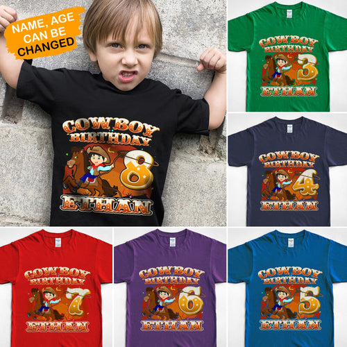 Cowboy birthday shirt, birthday shirts, birthday son shirt, birthday boy shirt, custom birthday shirts, custom t shirts