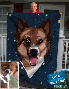 Pemola, personalized dog blankets, custom dog blanket, custom blankets, fleece blankets