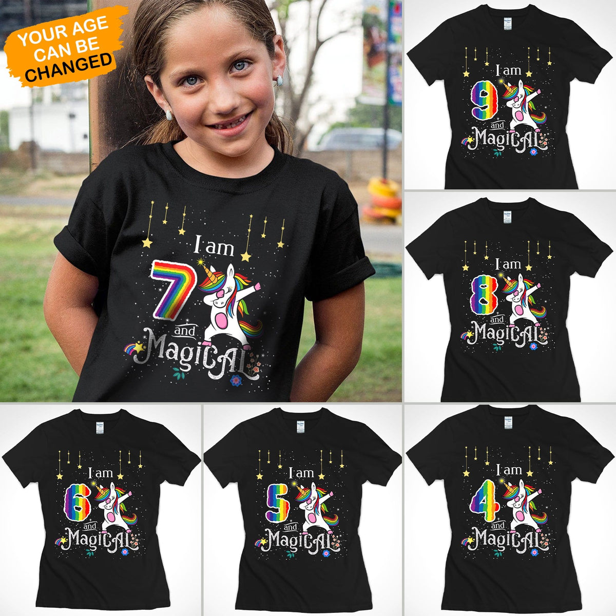 Pemola, I am and magical tshirt, funny birthday shirts, unicorn birthday shirt, unicorn gifts, Customized gifts