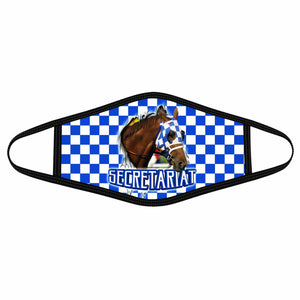 Pemola Secretariat Cloth Face Masks, Horse Racing Cloth Face Covers, Horse Face Coverings