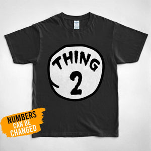 Pemola, Thing 1 and thing 2 shirts, custom t shirts, personalized gifts, graphic tees, funny t shirts, cool t shirt