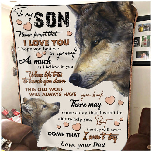 Pemola, Wolf Fleece Blankets, birthday gifts for son, Wolf gift, birthday gift, gifts for kids