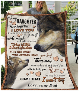 Pemola, Wolf Fleece Blankets, Wolf Gift, gifts for daughter, birthday gift, birthday gifts for her,