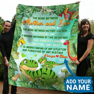 Pemola, dinosaur blanket, gifts for son, personalized blankets, Customized gifts
