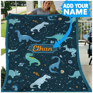 Pemola, personalized dinosaur blanket, Customized gifts, personalized gifts for kids, funny birthday shirts
