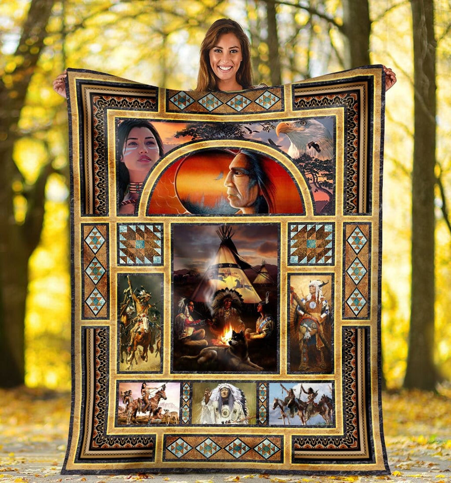 Pemola, Native American Fleece Blankets, Native Blanket, Native american blanket, Birthday gifts