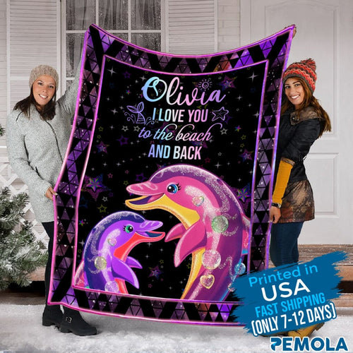 Pemola- Dolphin Personalized Blanket
