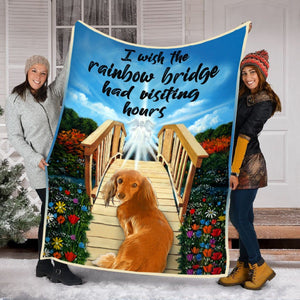 Pemola - Dog Memorial Gifts, Pet Sympathy Gift, Dog Remembrance Gift, Pet Loss Blanket, Doxie Dachshund Fleece Blanket