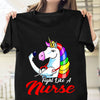 Pemola, Fight like a Nurse shirt,unicorn t shirt, unicorn gifts, best friend gifts, funny t shirts, shirts for girl, nurse shirt