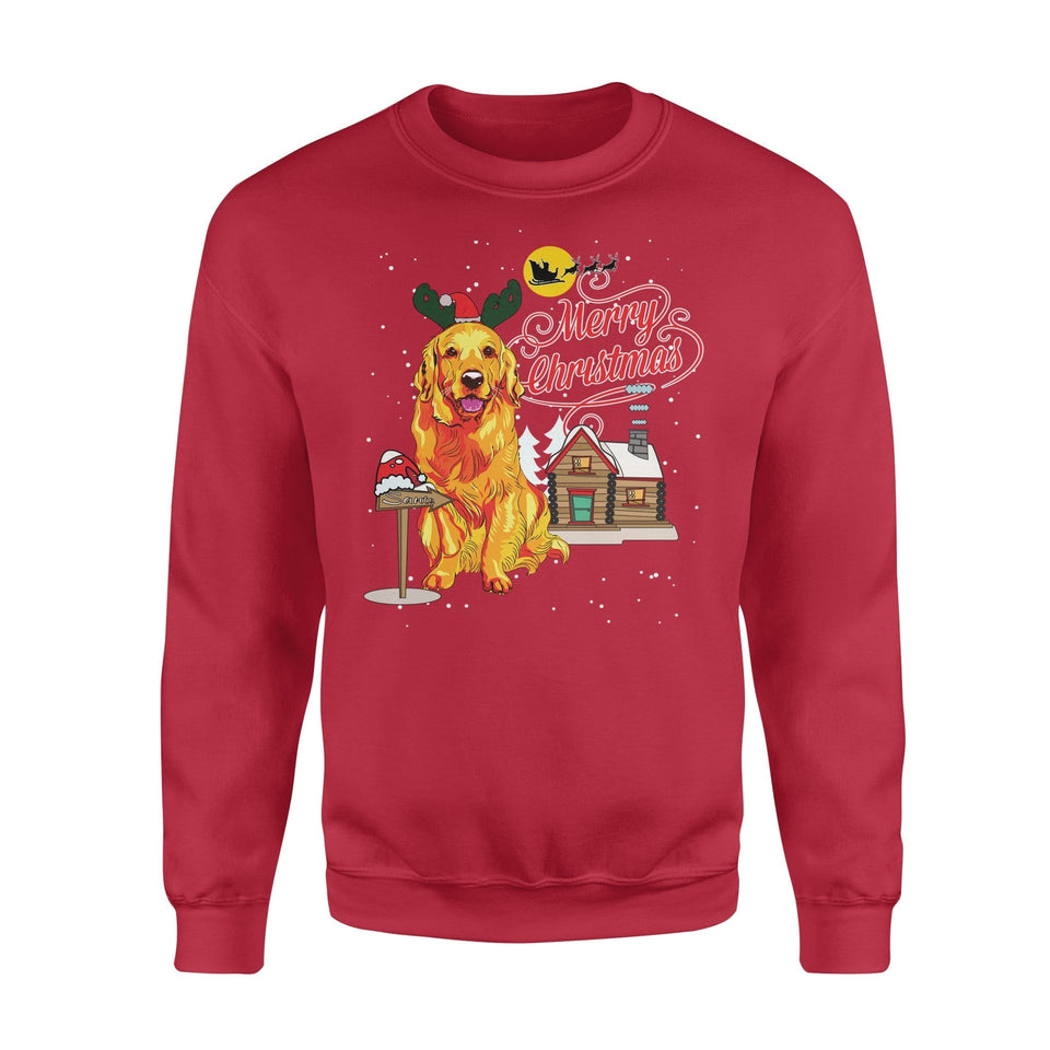Pemola, Golden Retriever Dogs Christmas Sweatshirts, Sweatshirt
