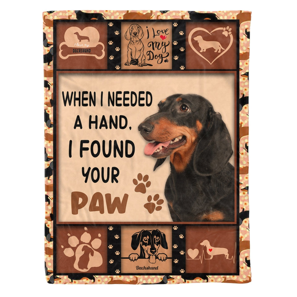 Pemola - Pet Loss Gift, Dog Blankets, Dog Breeds, Dog Memorial Gift, Doxie, Dachshund Fleece Blanket