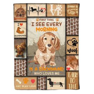 Pemola - Dachshund fleece blankets, gifts for dachshund lovers, dachshund puppies blanket