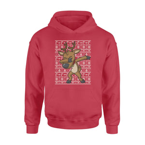 Pemola - Reindeer Christmas Ugly Hoodie, hoodies for men, hoodies for women, graphic hoodies