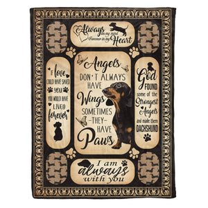 Pemola - Dachshund Quotes memories Fleece Blanket, Dachshund Paws blanket, Wiener dog Christmas Presents for family