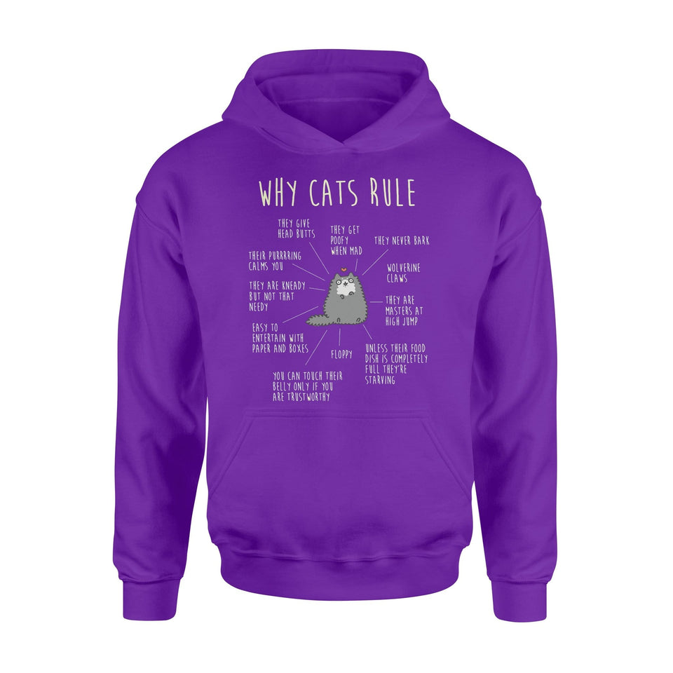 Pemola - Why Cats Rule Hoodie, cool hoodies, graphic hoodies