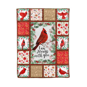 Pemola - Saying Cardinal Fleece Blanket, red bird, cardinal bird, christmas gifts for mom, birthday gift for husband
