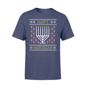 Pemola - Happy Hanukkah T-shirt, graphic tees, funny t shirts, cool t shirt, friends t shirt