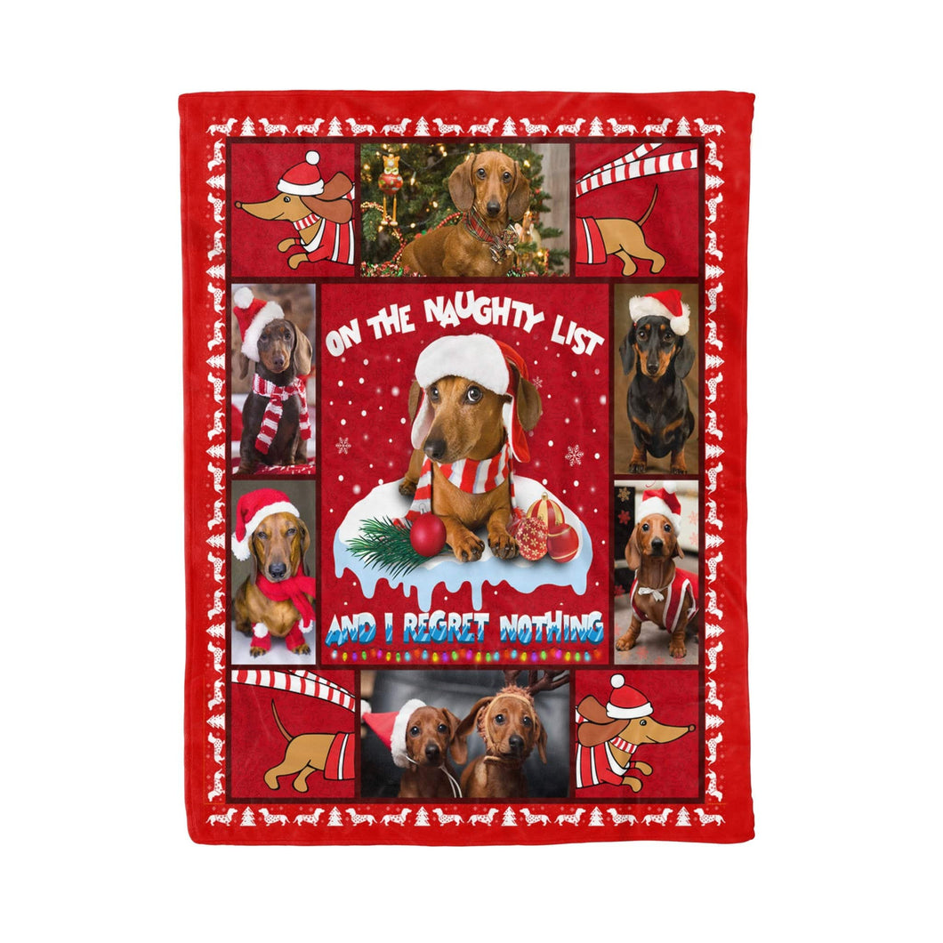 Pemola - Dachshund Fleece blankets,  Wiener dog Blanket, Dachshund puppies Blanket Best Christmas Gift Idea