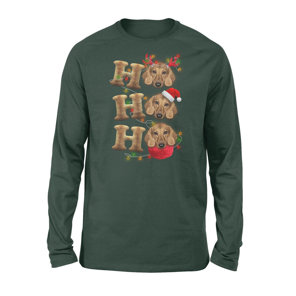Pemola - Dachshunds Dog Christmas Long Sleeve, wiener dog Xmas gift
