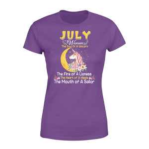 Pemola, July woman T-shirt, Unicorn birthday gifts, july t-shirt, birthday shirts, birthday shirts for her, Unicorn t shirts