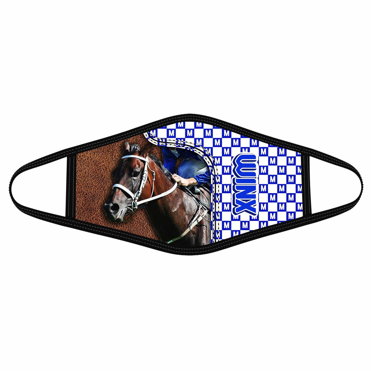 Pemola Winx Cloth Face Masks, Horse Racing Cloth Face Covers, Horse Face Coverings