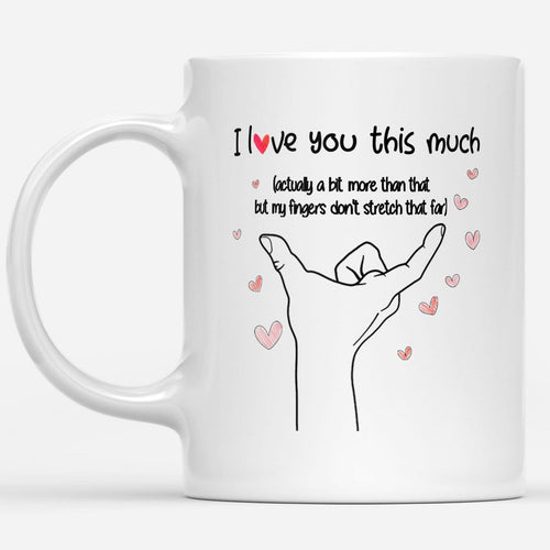 Pemola - Girlfriend Gifts, Happy Valentines Day, Valentines Day Gifts For Him White Mug