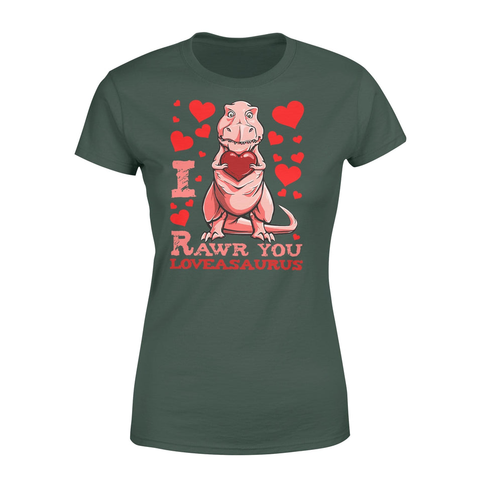 Pemola, Red Dinosaur Shirt, valentines day gifts, valentines day gifts for him, valentines day gifts for her, dinosaur shirts