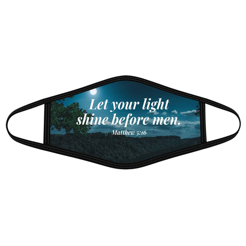 Pemola Your Light shine Cloth Face Masks, Jesus Face Coverings, Christian Cloth Face Covers